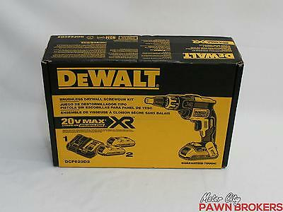 DeWalt DCF620D2 20V Brushless Drywall Screwgun Kit - NEW