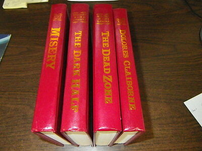 Lot of 4 Stephen King Red Leather Library Books