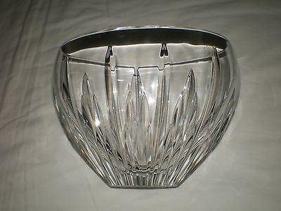 Brilliant WATERFORD Signed LISMORE 6 Tall 7-5 Boat Shape Crystal Glass VASE