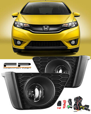 2015-2017 Honda FIT Driving Clear Fog Lights Lamp Complete Kit Switch - Harness