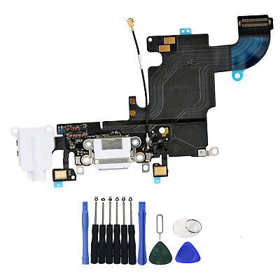 OEM Charging Port Charger Dock Headphone MIC Flex Cable For iPhone 6S 4-7 White