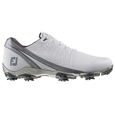 New Mens FootJoy 2016 DNA Golf Shoes White  Silver - Choose Size