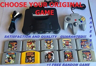 Nintendo 64 Console - 1 Controller- Choose your Favorite GAME - 1 FREE GAME