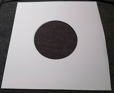 Package of 100 45 rpm 7 Record Sleeves 20 White Paper-  100 acid-free-