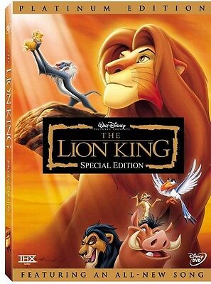 The Lion King DVD 2003 2-Disc Set Platinum Edition Features an All-New Song