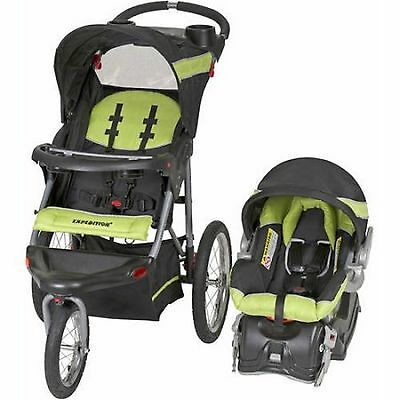 Baby Trend Expedition Jogger Travel System 3in1 Stroller Car Seat Electric Lime