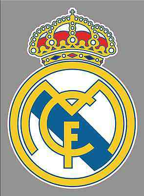 Real madrid FC Logo 6 Vinyl Decal Bumper Window Sticker - Football Soccer
