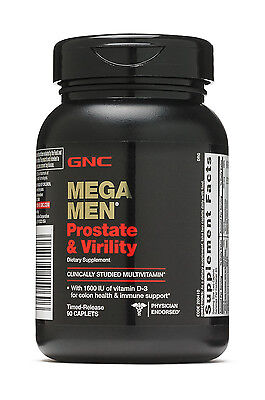 New GNC Mega Men Prostate and Virility 90 Caplets Free Shipping EXP 032020