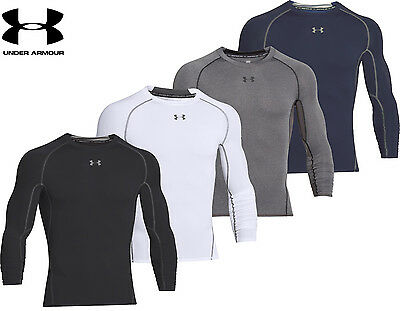 Mens Under Armour Compression Shirt HeatGear Armour Long Sleeve Top 1257471