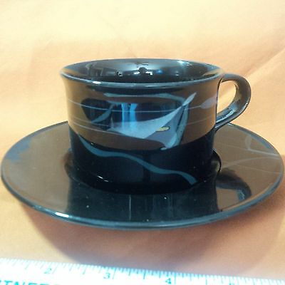 Mikasa Opus Black Cup and Saucer Set  EE
