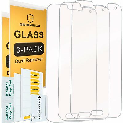 3-Pack- Mr Shield For Samsung Galaxy S5 Tempered Glass Screen Protector 0-3