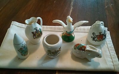 Lot of 6 Crested China Rare  W-H- GOSSStoke on TrentMilton and others