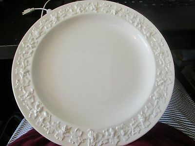 WEDGWOOD EMBOSSED QUEENSWARE CREAM ON CREAM DINNER PLATE 10-14 inches