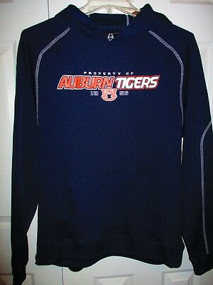 Auburn Tigers March Madness M L Navy Blue Burnt Orange JAmerica Slim Fit Hoodie