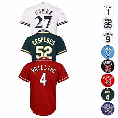 MLB Majestic Official Cool Base Player Jersey Collection Youth Size S-XL 8-20