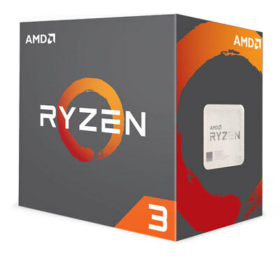 New AMD Ryzen 3 1200 4-Core 3-1GHz 3-4GHz Turbo Socket AM4 65W YD1200BBAEBOX