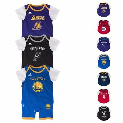 NBA Adidas Team Color Fan Jersey Romper Infant Toddler SZ 0-24 Months