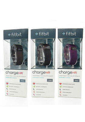 NEW Fitbit Charge HR Activity Fitness Heart Rate - Sleep Wristband Large - Small