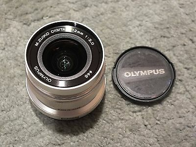 Olympus M-Zuiko 12mm f2 ED Lens For Four Thirds Silver