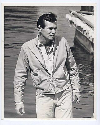 Vintage 1960s THE FUGITIVE Original 8x10 DAVID JANSSEN Portrait DBW