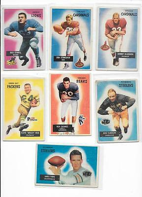 1955 VINTAGE BOWMAN FOOTBALL CARD LOT- 13 CARDS - SEVERAL ARE ROOKIE CARDS