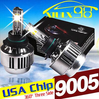 2x 9005 HB3 H10 9140 Car LED Headlight CONVERSION Bulbs 8000LM 80W Lights Lamp