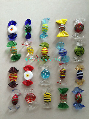 20pcs Mixed Vintage Glass Sweets Wedding Xmas Party Candy Decorations Gift