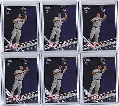 2017 Topps Chrome AARON JUDGE RC 169 6 CARD LOT ROOKIE CARDS NY YANKEES LK