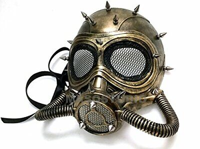Steampunk Burning man Halloween Respirator Masquerade Party Gas Mask with Hoses