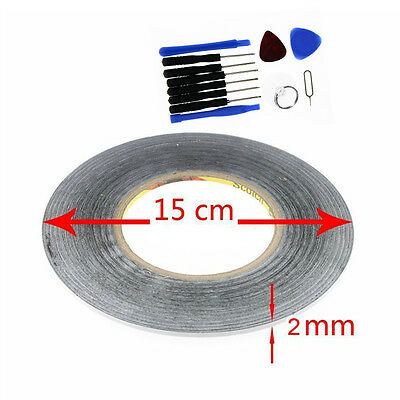 2mm black For 3M Sticker Double Sided Tape Adhesive cell phone repair -tools USA