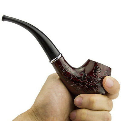 HOT Wooden Wood Enchase Smoking Pipe Tobacco Cigarettes Cigar Gift Durable