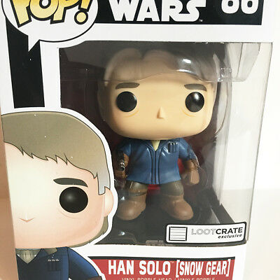 Funko Pop - HAN SOLO snow gear 86 - A Loot Crate exlusive STAR WARS - New in box