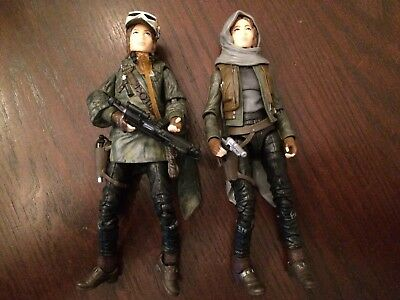 Star Wars Black Series Jyn Erso 6 action figures Lot of 2 Loose