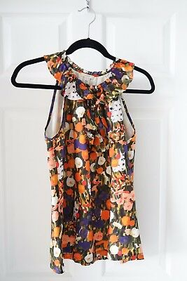 J-Crew Floral Sleeveless Top Womens Size Small