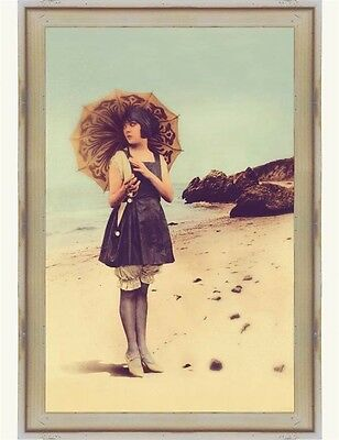 Victorian Trading Co Siren of the Sands 1920s Girl Beach Print