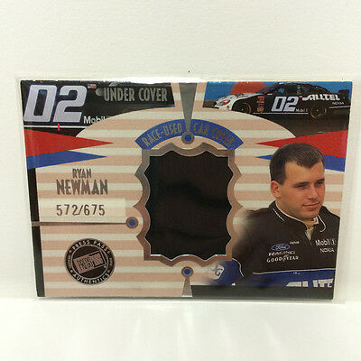 Ryan Newman 2002 - Race used car cover card Press Pass 572675 CD 912
