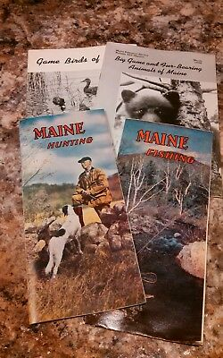 Lot of 4 MAINE Hunting and Fishing 1955 Vintage Magazine advertisement