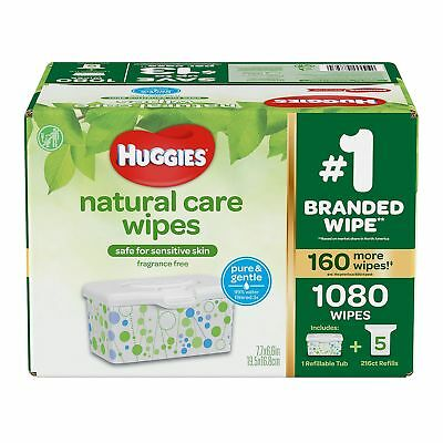 Huggies Natural Care Baby Wipe Refill Unscented 920 ct-