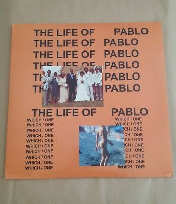 Kanye West - The Life Of Pablo 2xLP Gray Marble Vinyl Record Rare Sold Out