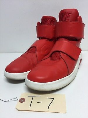 T7 Nike Marxman Red Leather High Top Casual Shoe Mens Size 11-5 M