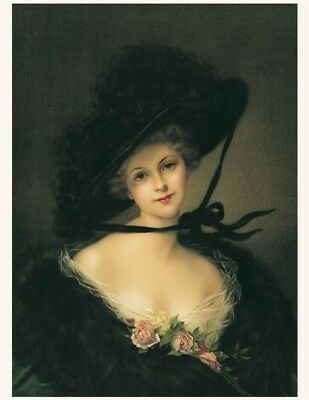 Victorian Trading Co Merry Widow Lady Portrait Print