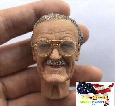 16 Stan Lee old man male head w glasses for 12 figure hot toy worldbox ❶USA❶