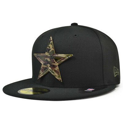 Dallas Cowboys New Era NFL Black Camo Badge Fitted 59Fifty Hat