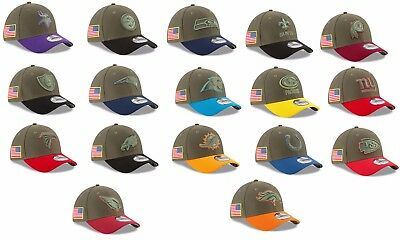 Mens NFL 2017 Salute To Service Flex Fit Hat Several Teams