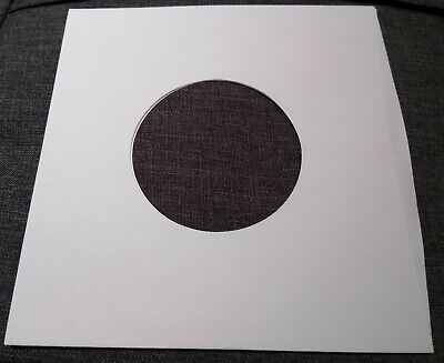 Package of 50 45 rpm 7 Record Sleeves 20 White Paper-  100 acid-free-