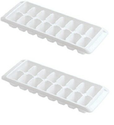 RUBBERMAID WHITE EASY RELEASE ICE CUBE TRAY 1998411 SET OF 2 NEW