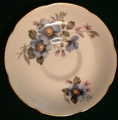 Royal Grafton Bone China Made in England  Saucer Blue Flowers