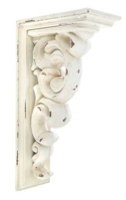 LARGE RUSTIC CORBELS  BRACKETS Distressed Antique White Wood Corbels Set Of 2