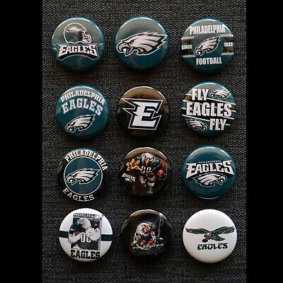 Philadelphia Eagles - 1 Inch Buttons - Set of 12   Free Shipping