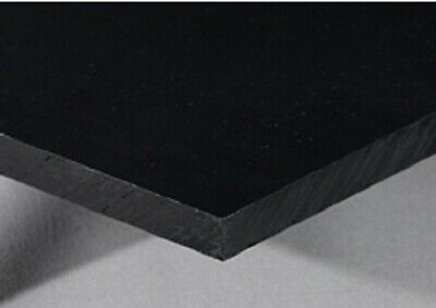HDPE POLYETHYLENE NO TEXTURE BLACK 14 THICK PICK YOUR SIZE